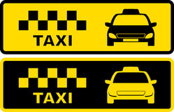 Black and yellow taxi symbol Royalty Free Stock Image