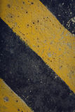 Black and yellow traffic sign warning Stock Images