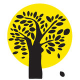 Black and Yellow Tree Illustration Royalty Free Stock Images