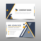 Black yellow triangle corporate business card, name card template ,horizontal simple clean layout design template ,. Business banner template for website Royalty Free Stock Images