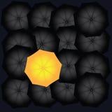 Black and yellow umbrella Stock Photos