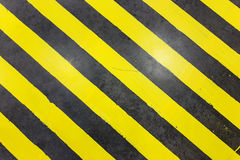 Black and yellow under construction grunge texture Royalty Free Stock Images