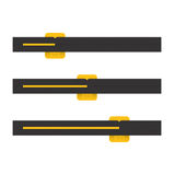 Black And Yellow Vector Progress Bars. Illustration Royalty Free Stock Photography