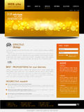 Black and yellow Vector Web site for business Stock Image