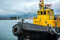 Vessel moored at the port Royalty Free Stock Images