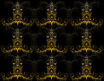 Black yellow wallpaper Stock Photography