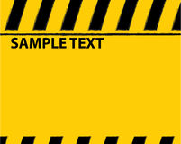 Black and yellow warning background Stock Images