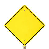 Black Yellow Warning Sign Royalty Free Stock Images