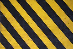 Black and yellow warning stripes Royalty Free Stock Photos