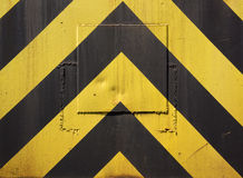 Black and yellow warning stripes Stock Images