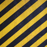 Black and yellow warning stripes background Stock Photo