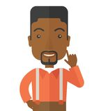 Black young successful man Royalty Free Stock Photo