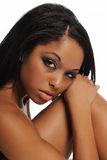 Black Young Woman Portrait Stock Images