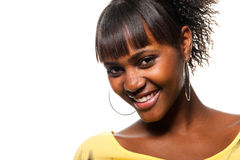 Black Young Woman Smile royalty free stock images