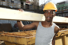 Black young worker Stock Image