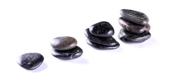 Black zen stones Stock Photos