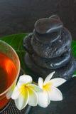 Black zen stones Royalty Free Stock Image