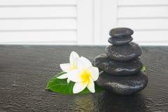 Black zen stones Stock Images
