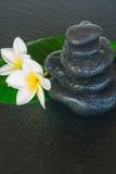 Black zen stones Royalty Free Stock Photos