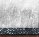 Black zig zag Fabric cover on table Black Marble table with Conc Stock Images