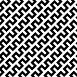 Black zigzag lines in diagonal arrangement. Abstract background geometrical seamless pattern. Vector illustration Stock Images