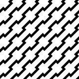 Black zigzag lines in diagonal arrangement. Abstract background geometrical seamless pattern. Vector illustration Royalty Free Stock Image