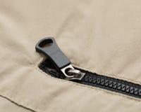 Black zip Stock Photography
