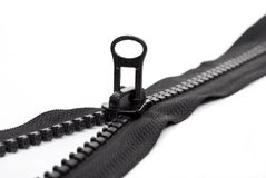 Black zipper Royalty Free Stock Photography