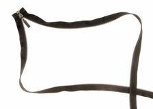 Black zipper. Creative frame. royalty free stock image