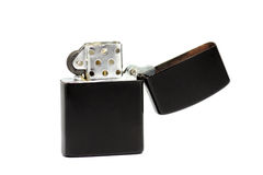 Black zippo lighter Royalty Free Stock Photo