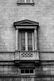 Blacka and white photo of vintage building Royalty Free Stock Photo