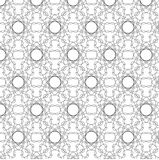 Blackand white abstract vector flower pattern. Abstract vector flower pattern, illustration Stock Image