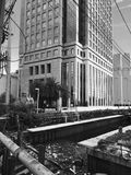Blackandwhite budynek zdjęcie royalty free