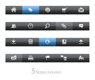 blackbar互联网系列选址万维网 库存例证