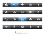 blackbar企业财务系列 免版税库存图片