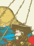 Blackbeard el pirata Imagen de archivo libre de regalías