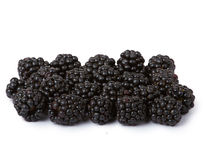 Blackberries. Ripe juicy blackberries isolated on white background Stock Image