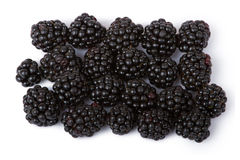 Blackberries. Ripe juicy blackberries isolated on white background stock photos