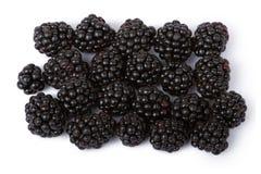 Blackberries. Ripe juicy blackberries isolated on white background Stock Photos