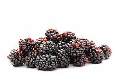 Blackberries. A shot of some ripe blackberries isolated on white Royalty Free Stock Photo