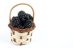 Blackberries basket Royalty Free Stock Photos
