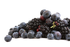 Blackberries and blueberries Royalty Free Stock Photo