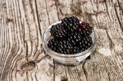 Blackberries in a bowl Stock Photography