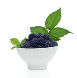 Blackberries in a bowl Stock Photos