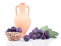Blackberries in the composition with amphora Stock Image