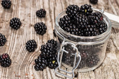 Blackberries in a glass Royalty Free Stock Photo