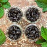 Glass jar of berries Stock Photo
