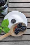 Blackberries for homemade jam Royalty Free Stock Images