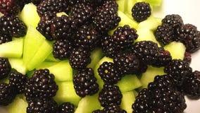 Blackberries and Honeydew Stock Photo