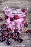 Blackberries iced drink Stock Photography